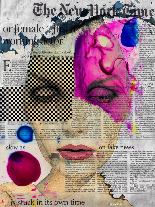 The face and the newspaper