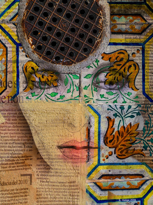 The woman with the azulejos