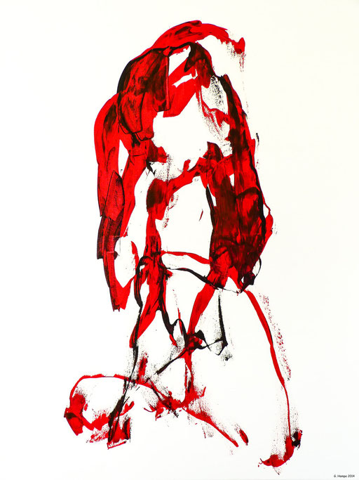 The mystic red woman / 80x100