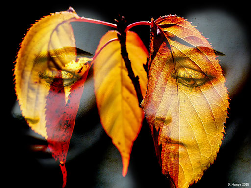 Women and leaves