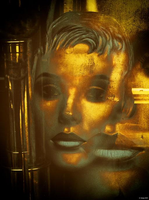 Golden faces