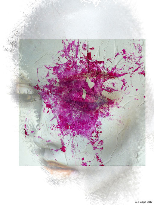 The woman with the pink splash
