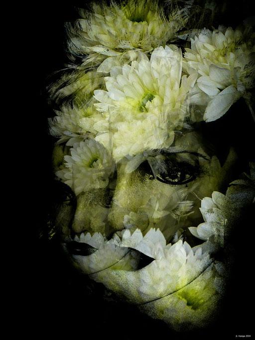 White flower woman