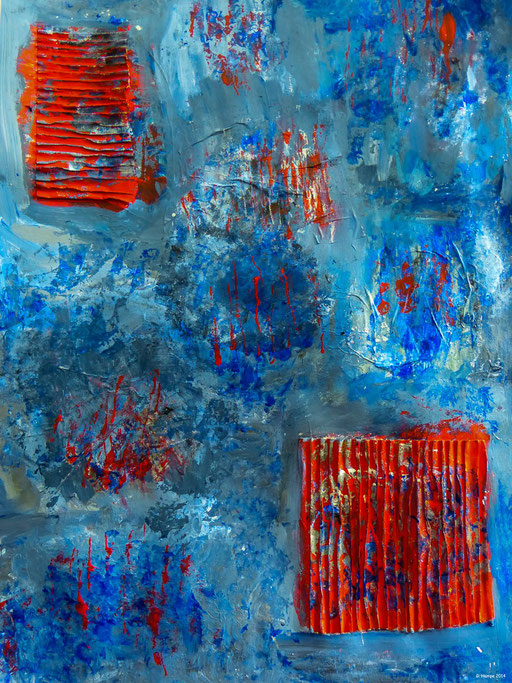 Red and blue confusion / 60x80 paper