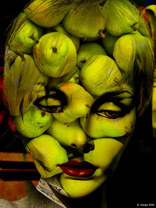 The woman with the pears
