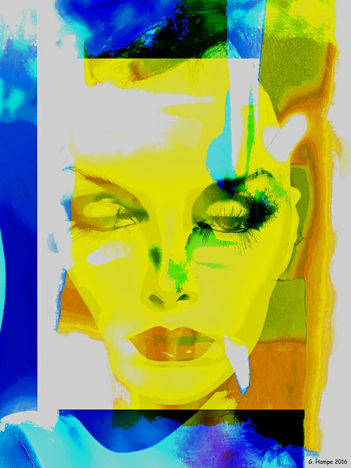 The abstract woman with the yellow face