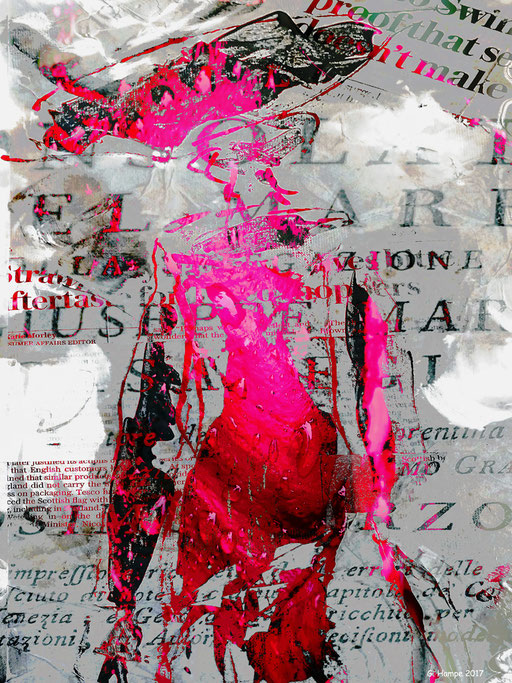 The pink woman