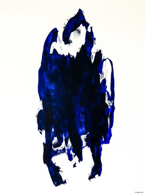 The dark blue woman / 80x100