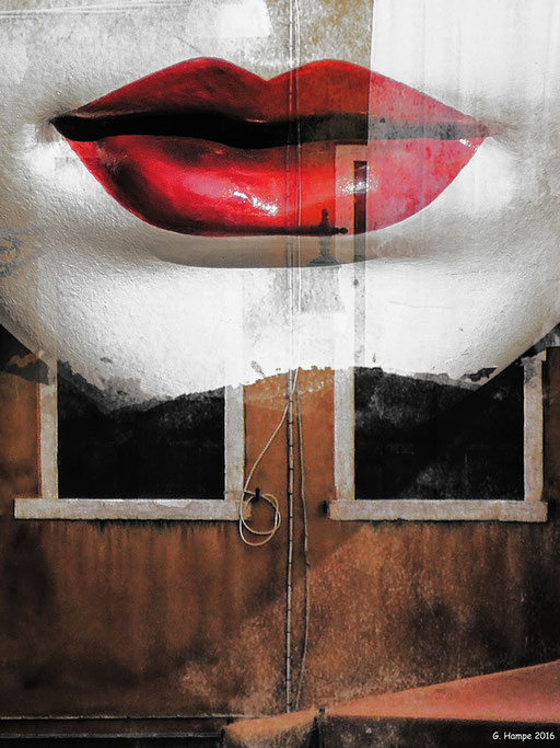 Red lips and old windows