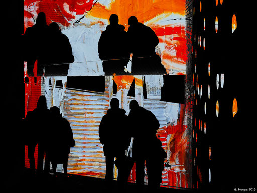 People at Elphi and abstract art
