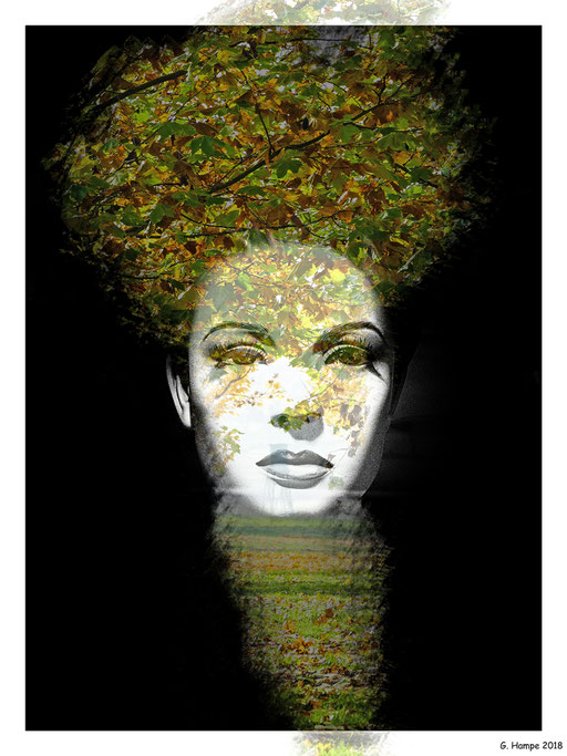 The woman with the leaves