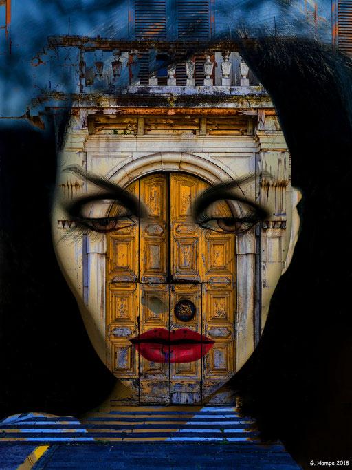 Inside the old italian door