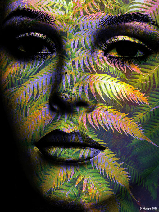 The woman with the fern