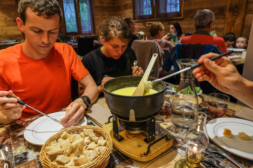 Our first cheese fondue of the trip
