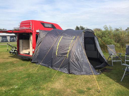 Gut gerüstet auf dem Campingplatz