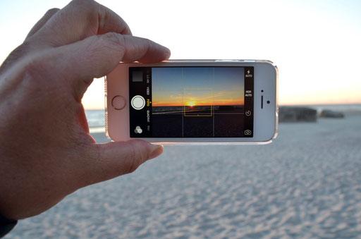 Sonnenuntergang für Smartphone Junkies