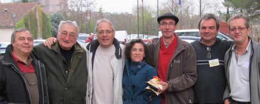Photo de groupe à l'expo d'Albi 2011
