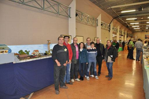 Photo de groupe à l'expo d'Albi en 2011