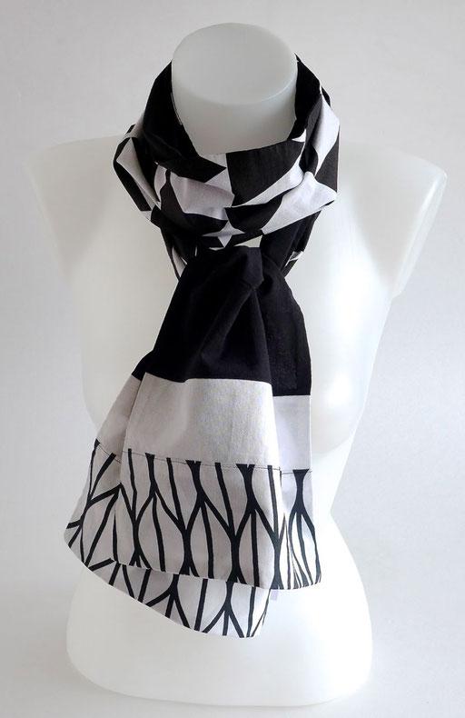 Foulard mixte homme femme graphique noir et blanc | Une Embellie