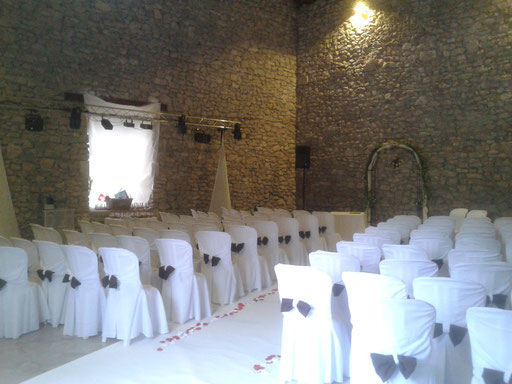 Sonorisation d'une ceremonie a la Baraque de Serignac
