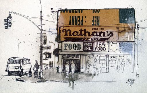 """<b>NATHAN'S FAMOUS</b><br><br>20 x 30 cm<br><a style=""""color:#db6464;"""">VENDU</a>"""