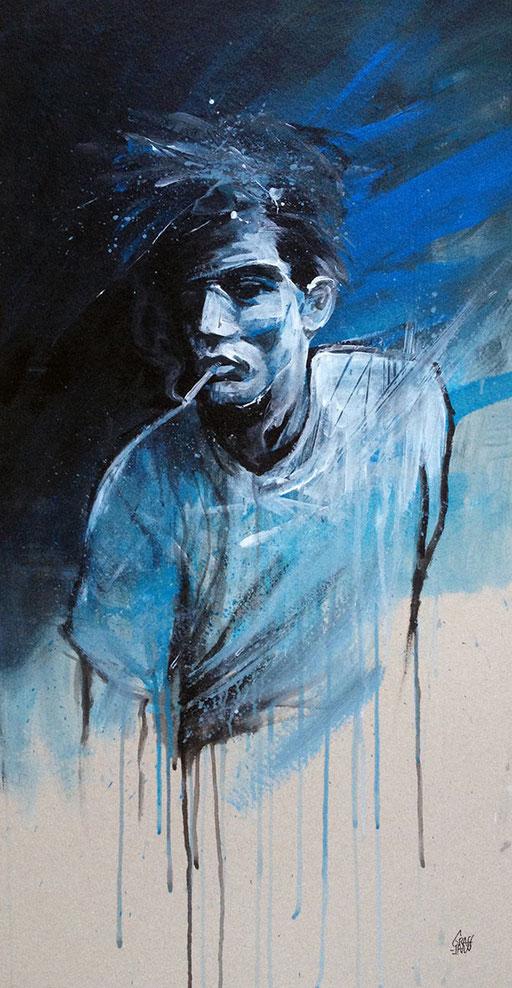 """<b>MAN SMOKING BLUES</b><br>100 x 50 cm<br><a href=""""/app/module/webproduct/goto/m/m57b4373f5bd8e89e"""" ; style=""""color:#49bfc0;"""" target=""""_blank"""">Disponible à la vente</b><alt=""""art tableau streetart portrait femme peinture sur bois palette graffmatt"""">"""