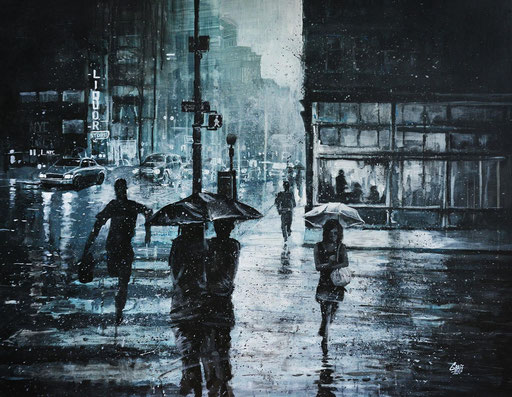 "<b>CROSSING THE SNOWY STREET</b><br>90 x 116 cm<br><br><a style=""color:#db6464;"">VENDU</a>"