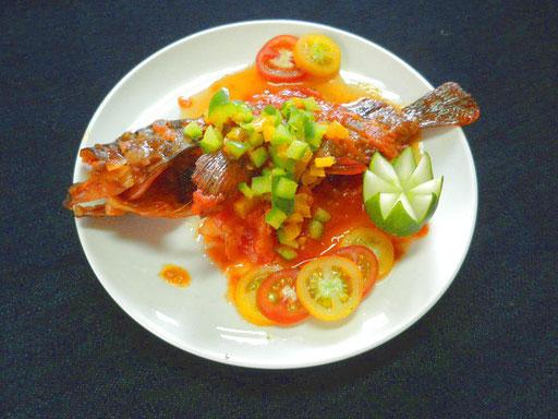 #カサゴのトマト煮 #レシピ #カサゴをソテーし #トマトソースで煮込みます