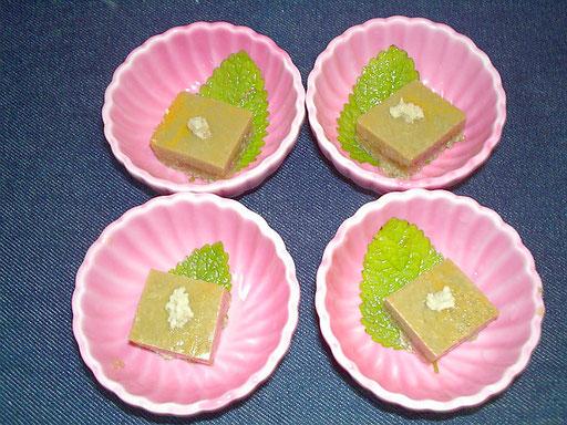 #カニ味噌豆腐 #レシピ  #カニ味噌にゼラチンを使い #和風に味付けします