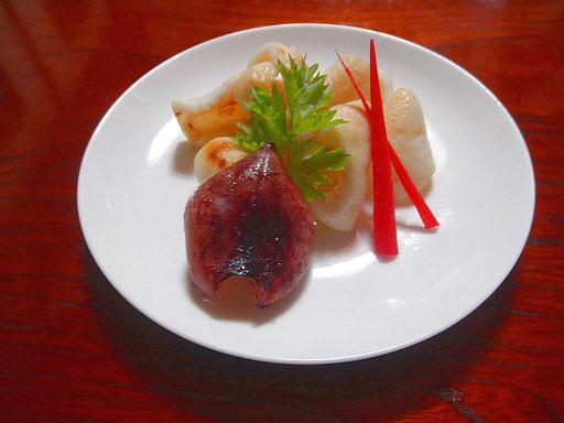 #マイカの西京味噌焼きレシピ #マイカを一口サイズに切り #西京味噌 #みりん #醤油を混ぜ合わせイカの切り身に塗り #グリルで焼きます #あしらいははじかみ
