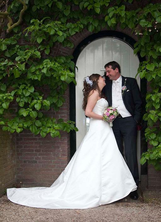 trouwreportage (Hortus Botanicus in Leiden)