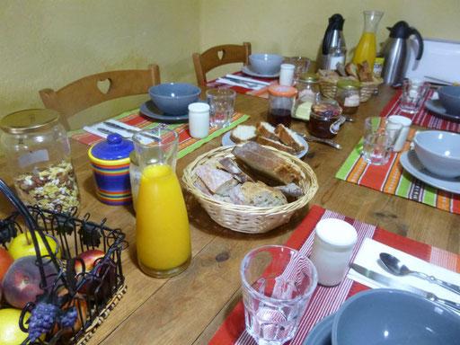 Petit déjeuner au Drac