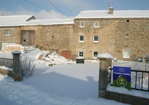 Chambres d'hôtes Le Drac en hiver
