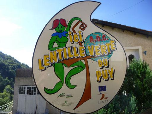 La route de la lentille verte AOC du Puy en Velay