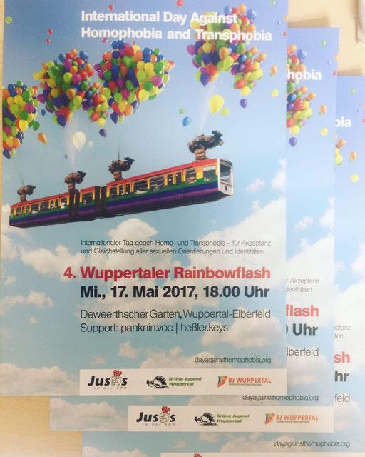 Der Einladungsflyer für den diesjährigen Rainbowflash.