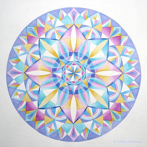 Mandala Nr. 47, Tusche und Aquarell auf Papier, 2011