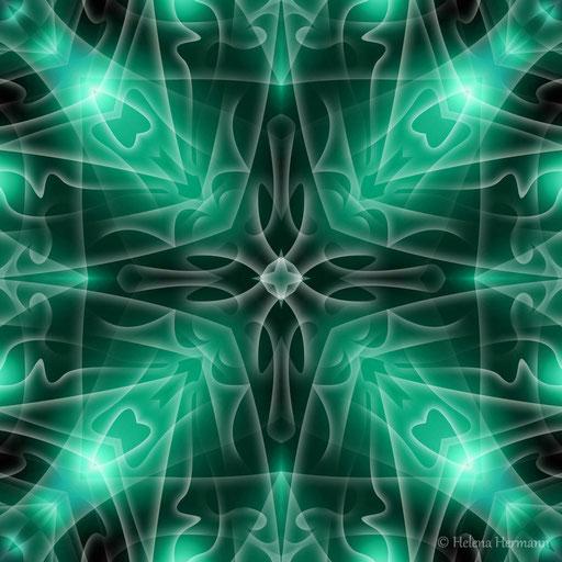 """Mandala """"Der geheime Wunsch"""", Computergrafik, 2009"""
