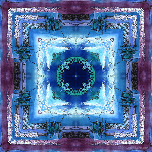 Mandala Nr. 7, Mischtechnik, 2009