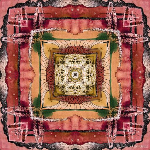Mandala Nr. 8, Mischtechnik, 2009