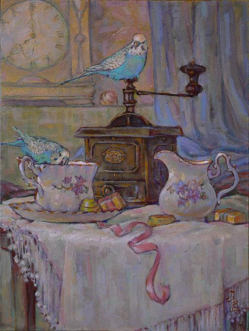 кофе с попугайчиками_акр_м_х_к_30х40