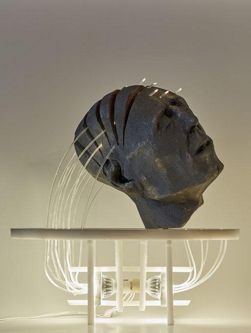 TOMOGRAFIA DEL ALMA. 2016 . 50 x 29 x 50 cm. Poliuretano - polietileno - acrílico
