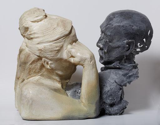 AMOR ETERNO. 2015. 70 x 33 x 46 cm. Poliuretano