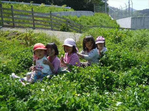 しんぐう里山ようちえんは、糟屋郡新宮町立花口の自然と田畑に囲まれた場所にあります。JR千早駅や新宮中央駅から車で20~30分圏内です。
