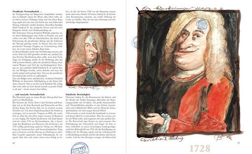 Illustration aus dem Buch »Tja, so war's – eine humoristische Zeitreise durch die Geschichte Mecklenburg-Vorpommerns« von Peter Bauer und Bernd Melzer (Text)Il