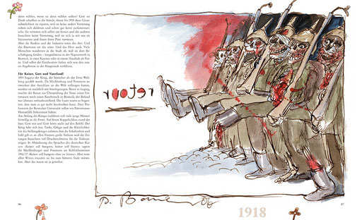Illustration aus dem Buch »Tja, so war's – eine humoristische Zeitreise durch die Geschichte Mecklenburg-Vorpommerns« von Peter Bauer und Bernd Melzer (Text)