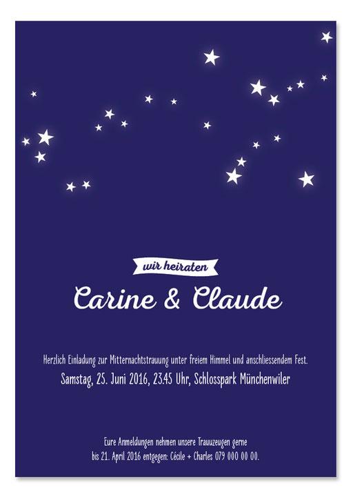 Carine & Claude: 1-seitig, 105×148 mm