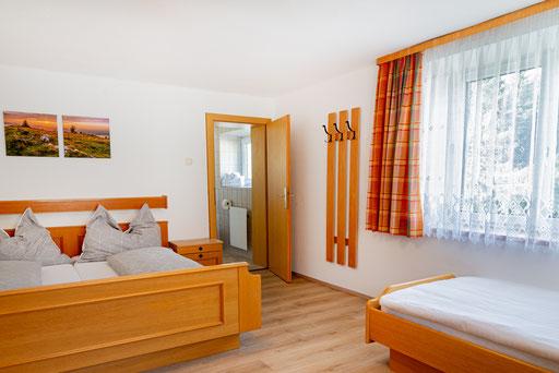 Doppelzimmer ohne Balkon, Zustellbett für 3. Person möglich