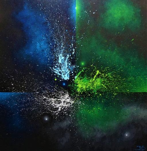 Cancer (2021, Acryl auf Leinwand, 100x100cm)