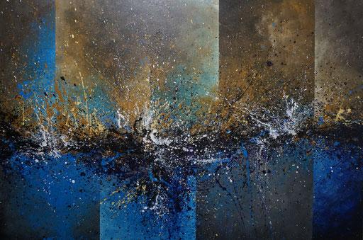 Abstract 1 (2021, Acryl auf Leinwand, 130x90cm) verkauft