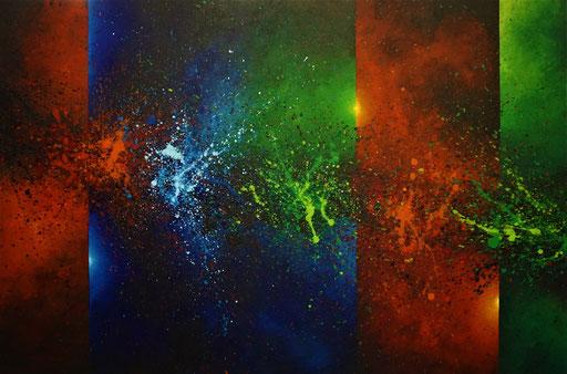 Abstract 4 (2021, Acryl auf Leinwand, 130x80)